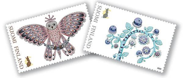 Klaus Haapaniemi teki postimerkit lumotun metsän hahmoista
