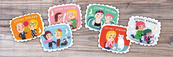 Matti Pikkujämsän ystävänpäiväpostimerkit menevät tunteisiin