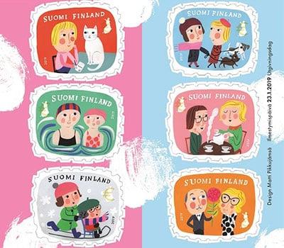 Ystävanpäiväpostimerkit